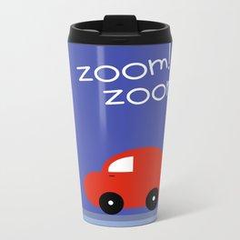 Zoom Zoom Car Metal Travel Mug