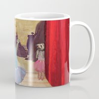 ferret Mugs featuring Ferret Ballet Dance Art  by Scalmato Studio