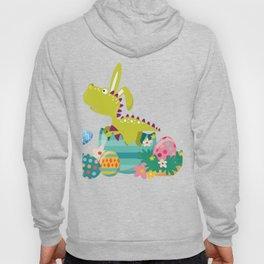 Dinosaur T-Rex Bunny Easter Egg Funny Gift For Boys Hoody