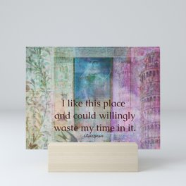 Shakespeare humorous whimsical  quote whimsical Mini Art Print