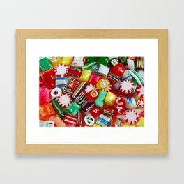 Colorful candy mix Framed Art Print