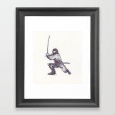 Ninja Quick Sketch Framed Art Print