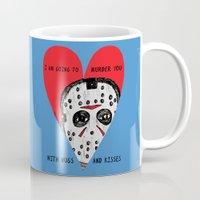 dramatical murder Mugs featuring Murder Love by JARHUMOR