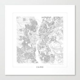 Cairo Map 2 Canvas Print
