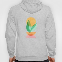 Summer Stack / Abstract Plant Illustration Hoody
