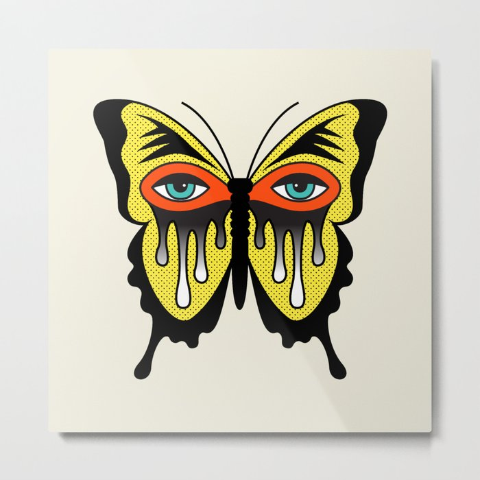 BUTTERFL-EYE Metal Print