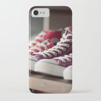 converse iPhone & iPod Cases featuring Converse by whitney b