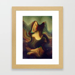mona lisa gioconda marble Framed Art Print