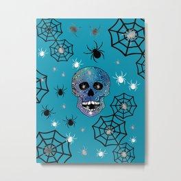 Creepy Crawling Spiders Metal Print