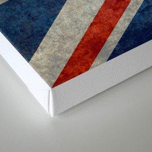 "English Flag ""Union Jack"" bright retro 3:5 Scale Canvas Print"