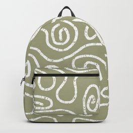 Wandering Paths in Sage Green Backpack