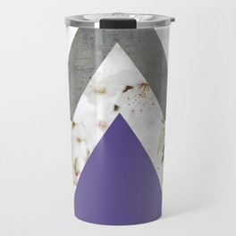 Ultra Violet Blossoms Arrows Travel Mug