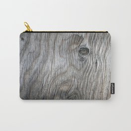 Real Aged Silver Wood Carry-All Pouch