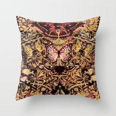 Honeysuckle, Butterflies and Moths Throw Pillow