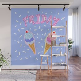 Friday Ice Cream Wall Mural