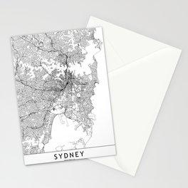 Sydney White Map Stationery Cards