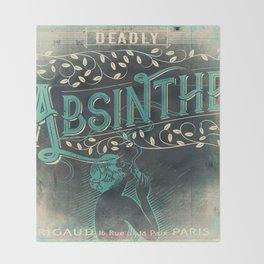 Deadly Absinthe Throw Blanket