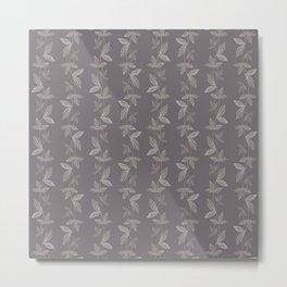 Leaf Design in Aubergine Metal Print