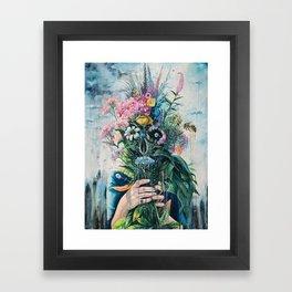 The Last Flowers Framed Art Print