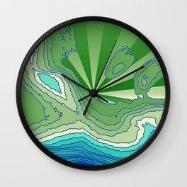 Satisfaction,green Wall Clock