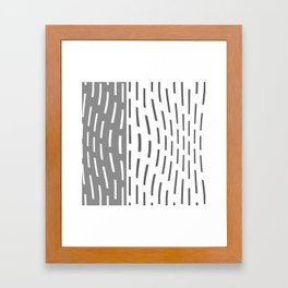 Pattern In Gray And Whte Framed Art Print