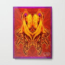 OctoSpeculum #1 - Psychedelic Octopus Fractal Optical Illusion Vibrant Design Metal Print