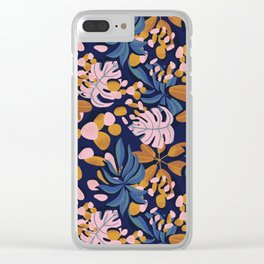 Fiery Fall Leaves Clear iPhone Case
