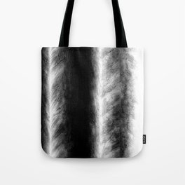 Black and White Stripes in Silk Tote Bag
