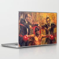brad pitt Laptop & iPad Skins featuring Brad Pitt in Snatch by guy ritchie by Miquel Cazanya