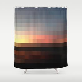 Pixel Shower Curtain