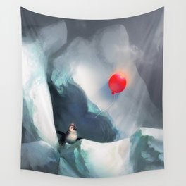 Heart Penguin Wall Tapestry