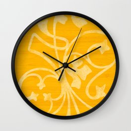 Rejas Yellow Wall Clock