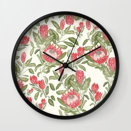 Protea Pattern Wall Clock