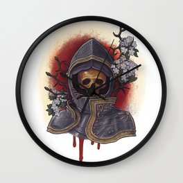 Chivalry in Thorns Wall Clock