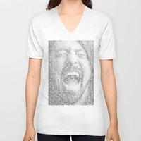 dave grohl V-neck T-shirts featuring Dave Grohl. Best Of You by Robotic Ewe