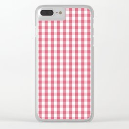 Nantucket Red Gingham Check Plaid Pattern Clear iPhone Case