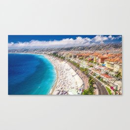 The French Riviera Landscape Painting by Jeanpaul Ferro Canvas Print