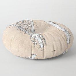 patent art Tucker Lacrosse stick 1967 Floor Pillow