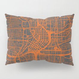 Atlanta map orange Pillow Sham