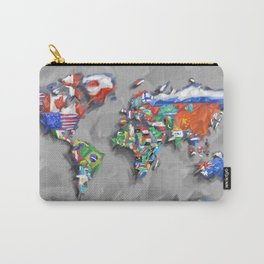 world map with flags Carry-All Pouch