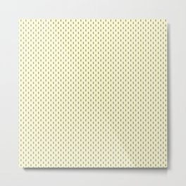 Badger Forest Friends All Over Repeat Pattern on Lemon Yellow Metal Print