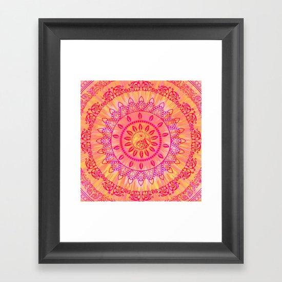 Mandala Orange Pink Spiritual Zen Hippie Bohemian Yoga Mantra Meditation by inspiredimages