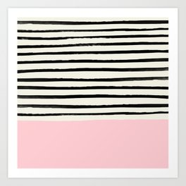 Millennial Pink x Stripes Art Print