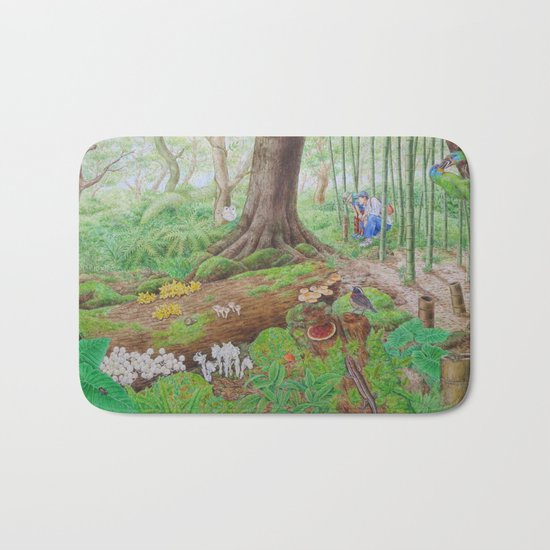 A Day of Forest (4). (the lake ecosystem) Bath Mat