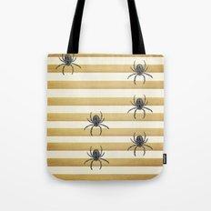 Descending Spiders Tote Bag