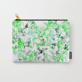 green heart shape abstract with white abstract background Carry-All Pouch