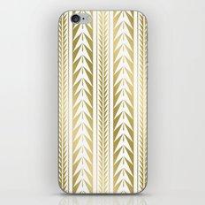 Tribal Stripes Gold iPhone Skin