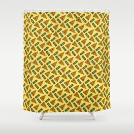 Pizza & Beer Love Shower Curtain