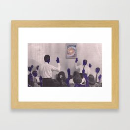 Network Framed Art Print
