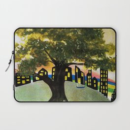 The Tree Swing on the Hill Laptop Sleeve